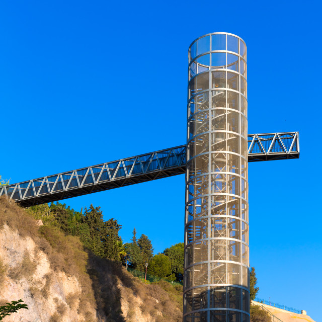 """Cartagena Panoramic lift elevator Murcia Spain"" stock image"