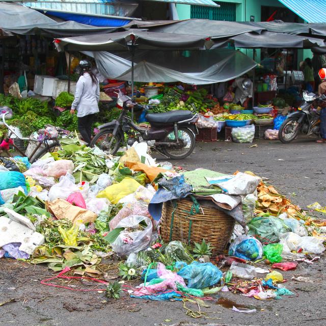 """Nha Trang Market, Vietnam"" stock image"