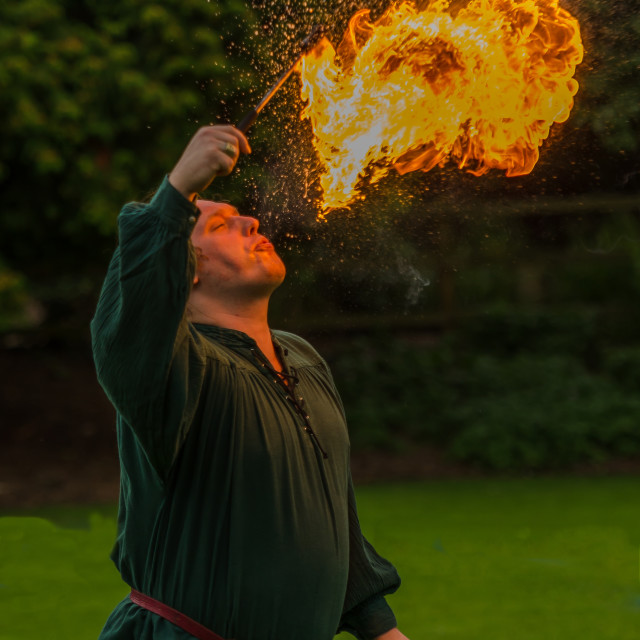 """Fire eater"" stock image"