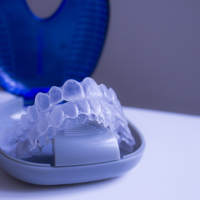 """Invisible braces"" stock image"