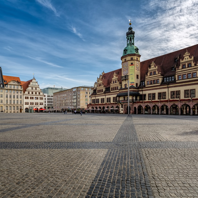 """Old City Square Leipzig Germany"" stock image"