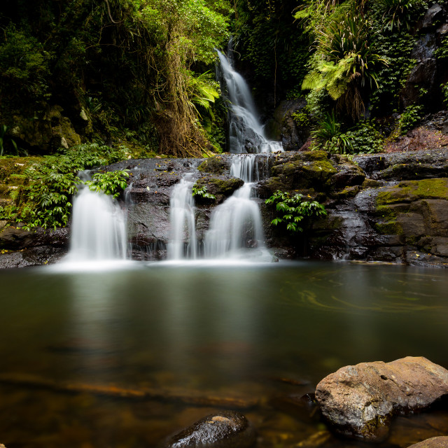 """Elabana Falls Lamington National Park"" stock image"