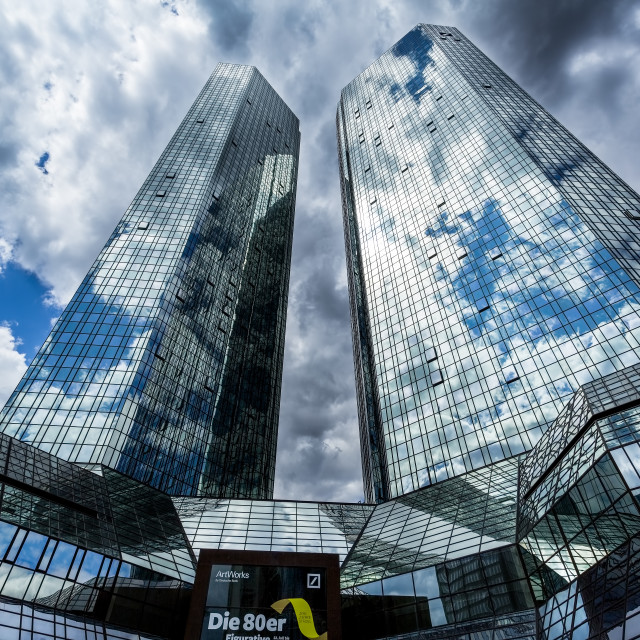 """Reflections Frankfurt Germany"" stock image"