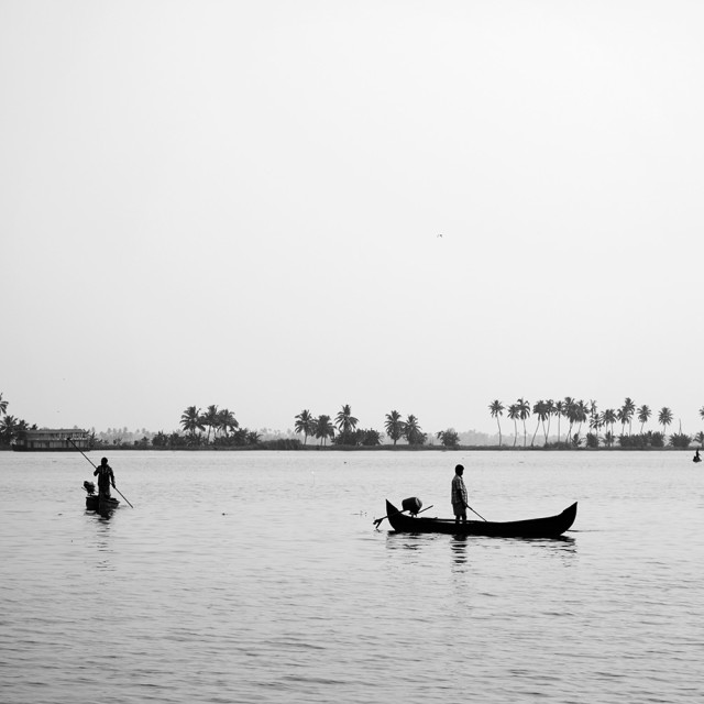 """Fishing on the Backwaters"" stock image"