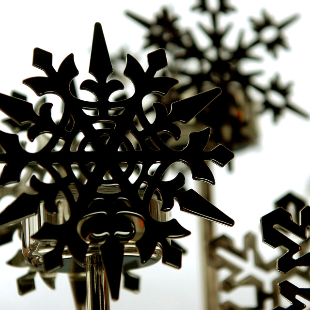 """Black Steel Snowflakes"" stock image"