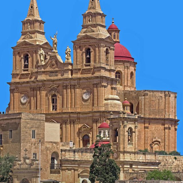 """Mellieha church"" stock image"