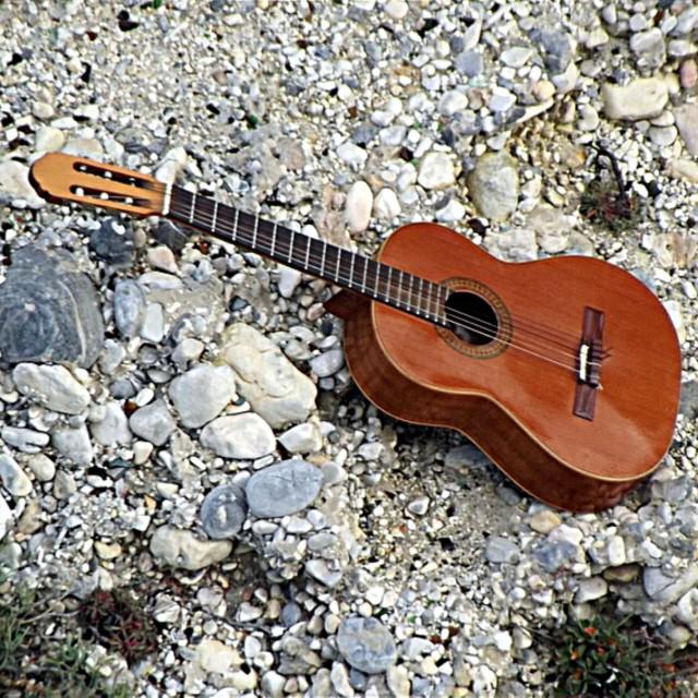 """""Guitarra española"""" stock image"