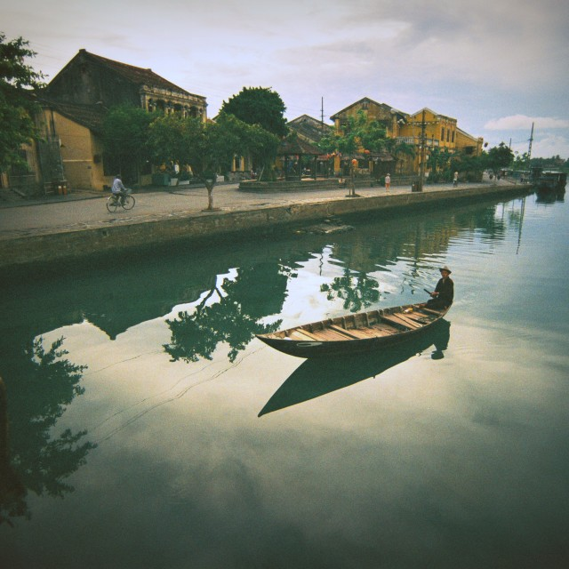 """Early Morning in HoiAn"" stock image"