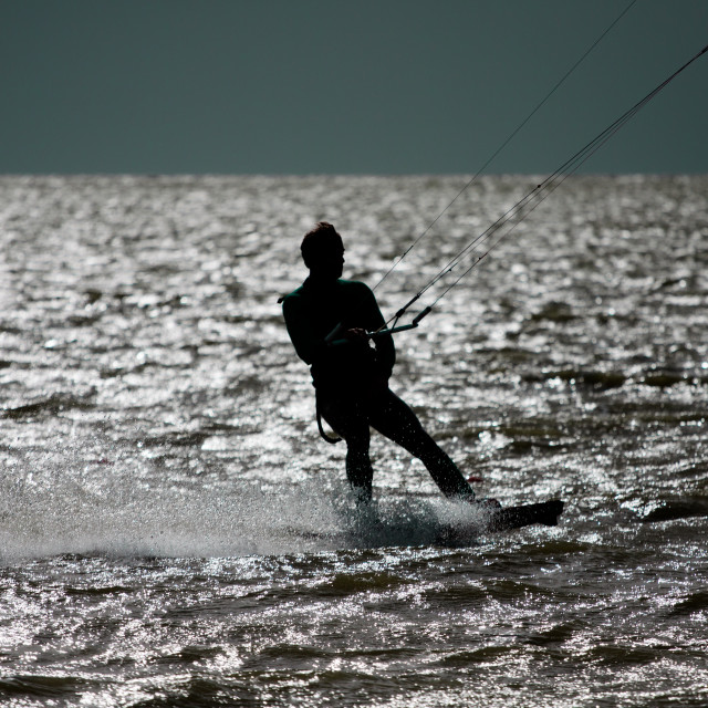 """The Unknown Kitesurfer"" stock image"