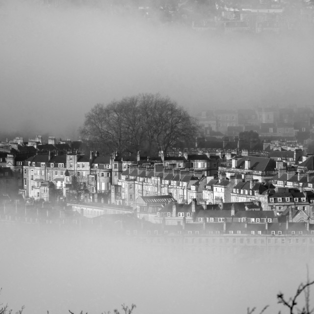 """Mist over Bath"" stock image"