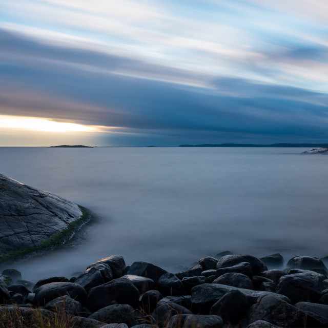 """""""View over the baltic sea archipelago"""" stock image"""