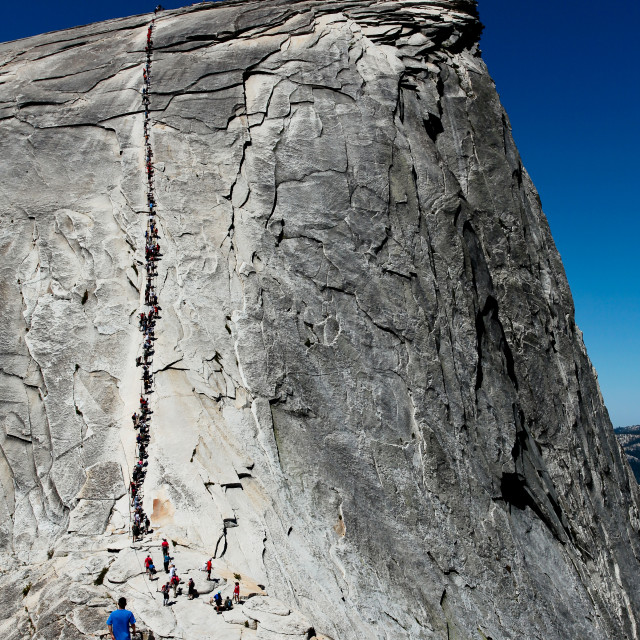 """The Cables, Half Dome, Yosemite National Park"" stock image"