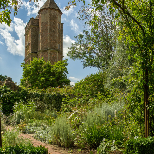 """Sissinghurst Tower"" stock image"
