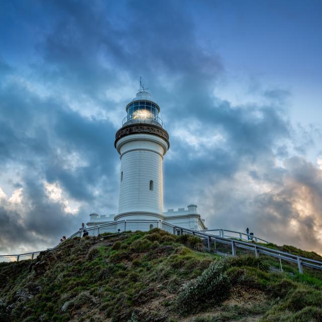 """""""Byron Bay Lighthouse"""" stock image"""