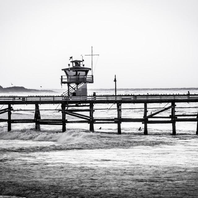 """""""San Clemente Pier"""" stock image"""