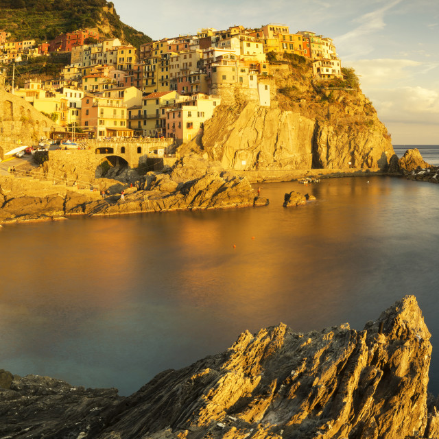 """high resolution panorama of Manarola"" stock image"