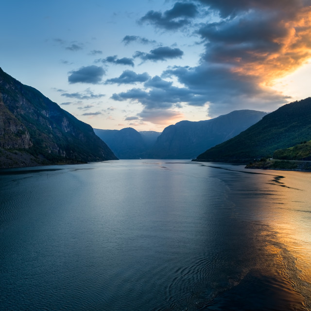 """""""Cruising Sognejford Norway"""" stock image"""