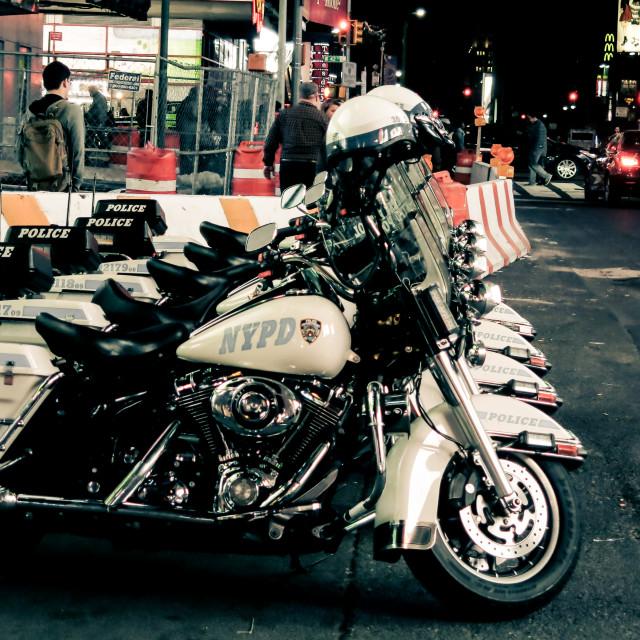 """""""police bikes"""" stock image"""