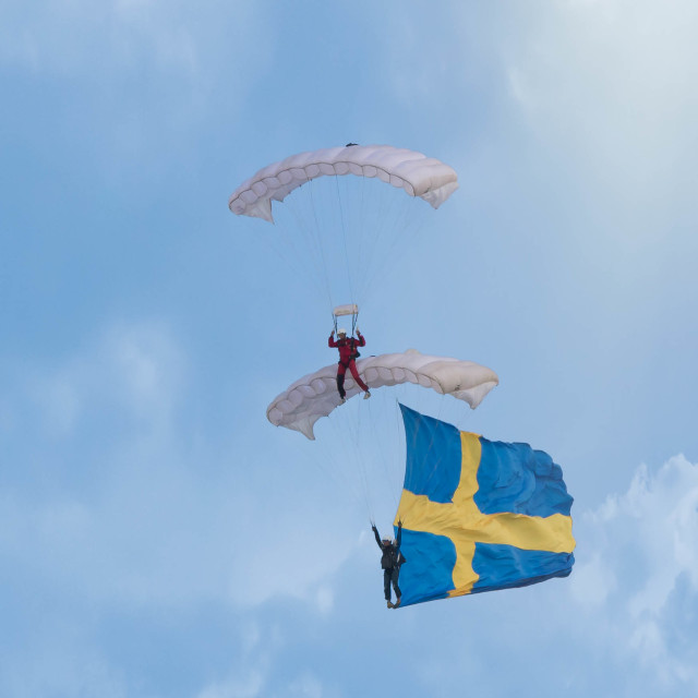 """Swedish paraglider"" stock image"