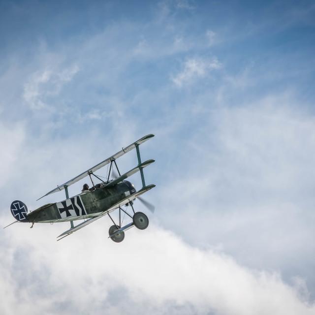 """""""Fokker Dr I midair"""" stock image"""