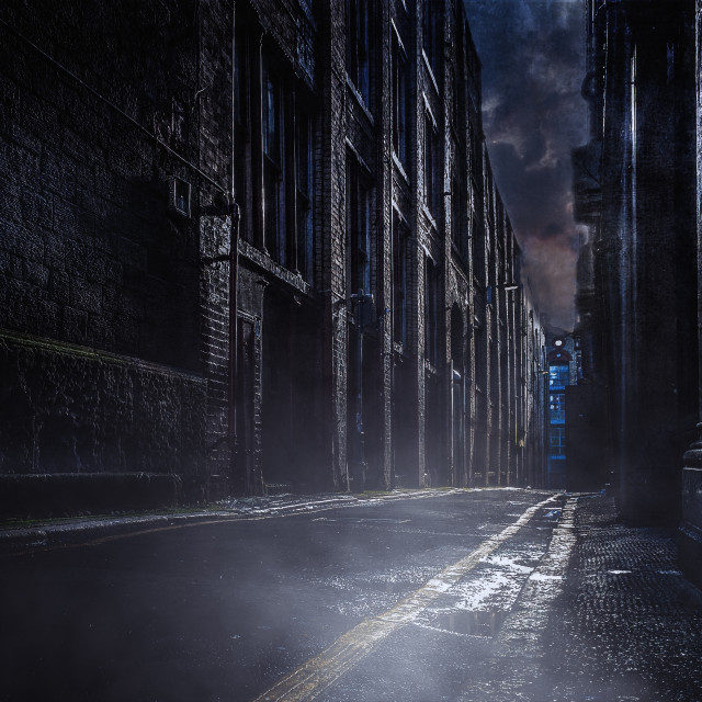 """Jack the Ripper Street"" stock image"