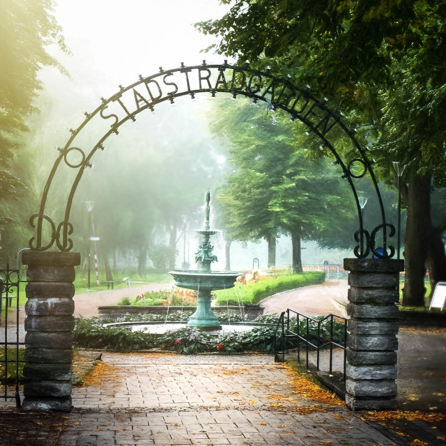 """Park entrance"" stock image"