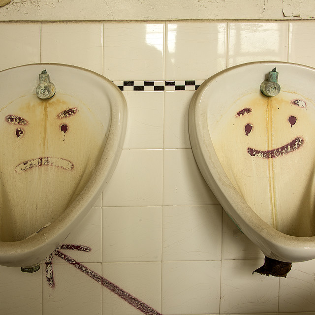 """Im Sad and Im Happy"" stock image"
