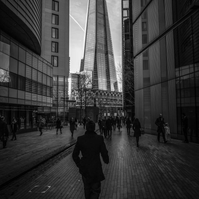 """Towards the Shard"" stock image"