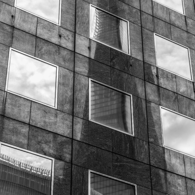 """""""Reflecting London"""" stock image"""