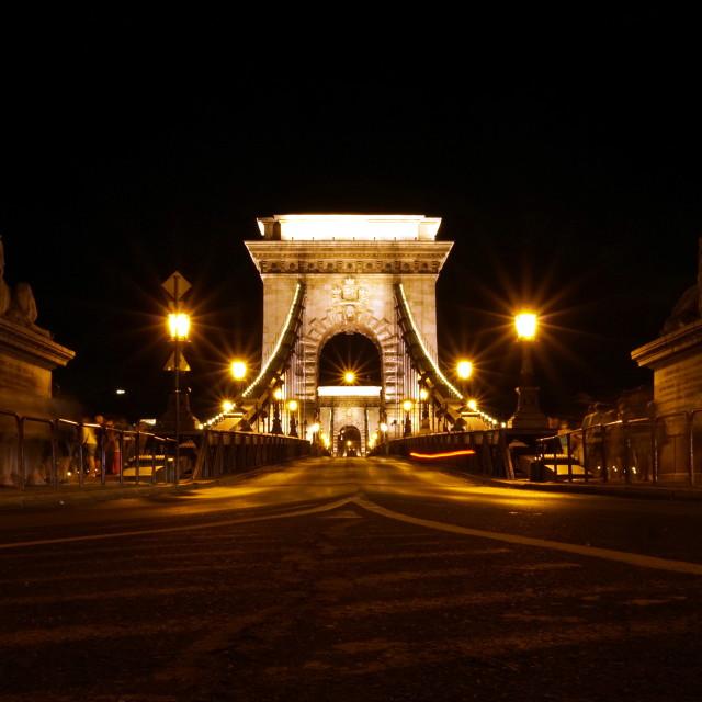 """Széchenyi Chain Bridge"" stock image"