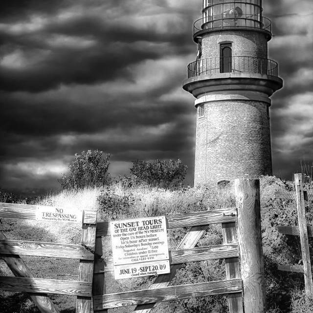 """Aquinnah Lighthouse - Martha's Vineyard"" stock image"