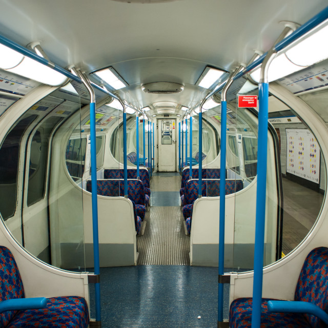 """Victoria Line Tube Train"" stock image"