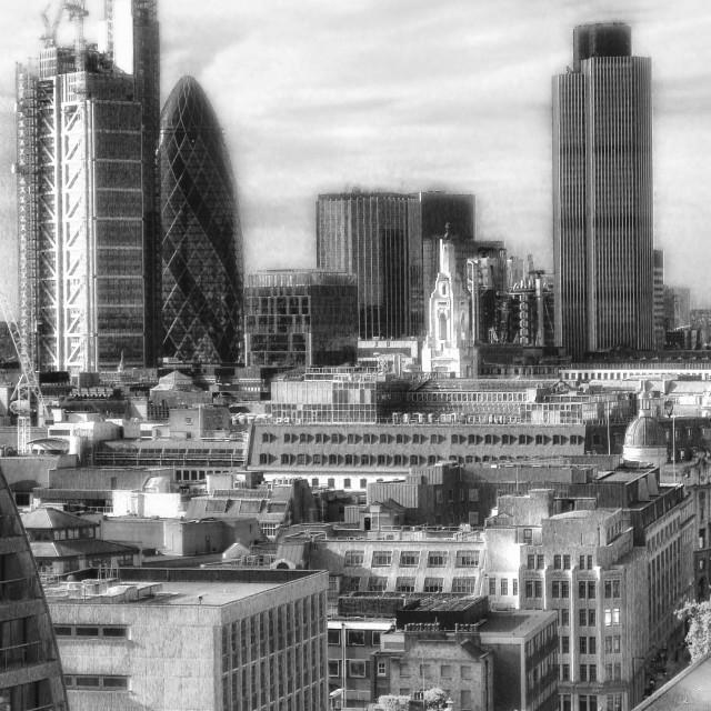 """City of London skyline"" stock image"