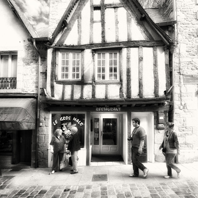 """Dinan, France - les cours!"" stock image"