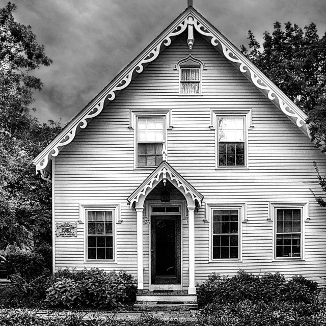 """Town house in Edgartown, MV."" stock image"