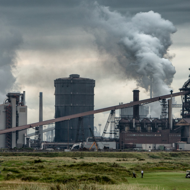 """Redcar steel works"" stock image"