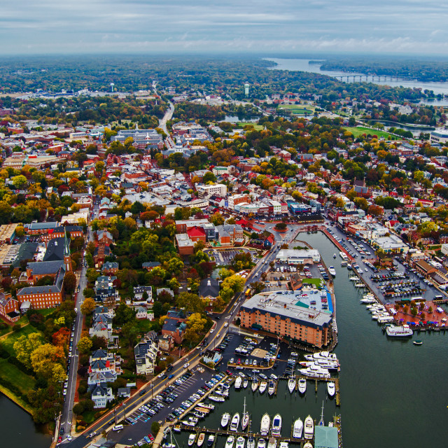 """Aerial of Annapolis, MD"" stock image"