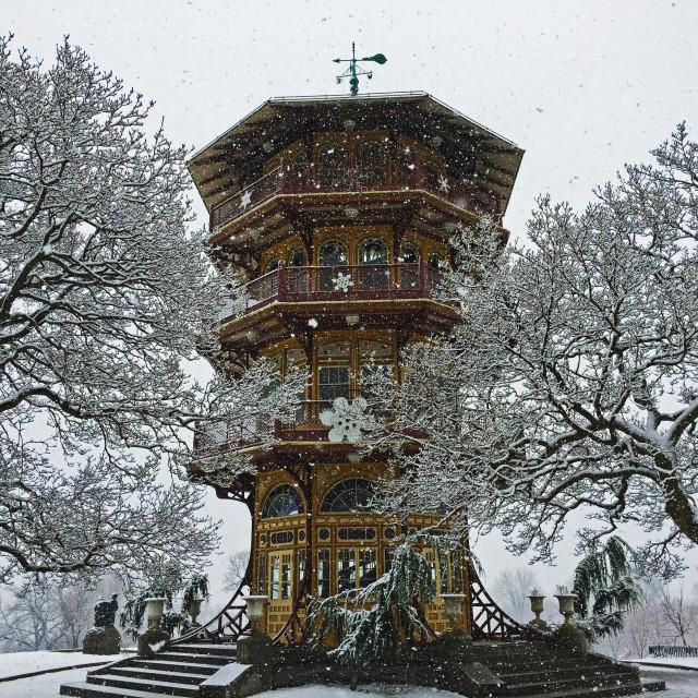 """Snowy Pagoda"" stock image"