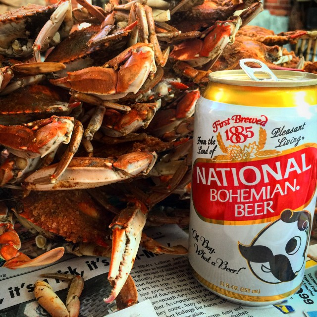 """Steamed Crabs and Beer"" stock image"