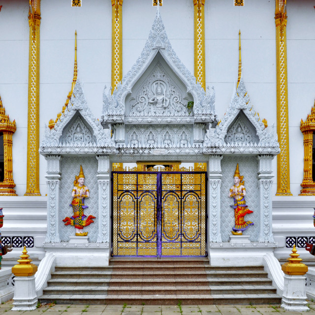 """""""Gorgeously crafted temple entrance"""" stock image"""