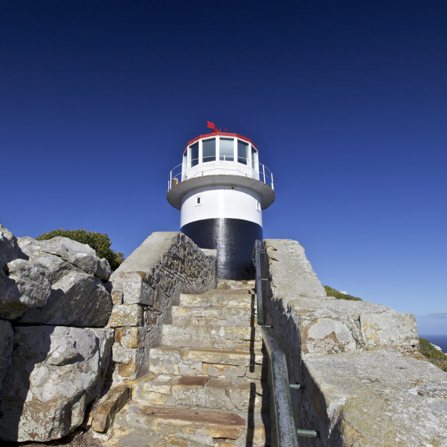 """The Lighthouse on Cape of Good Hope"" stock image"