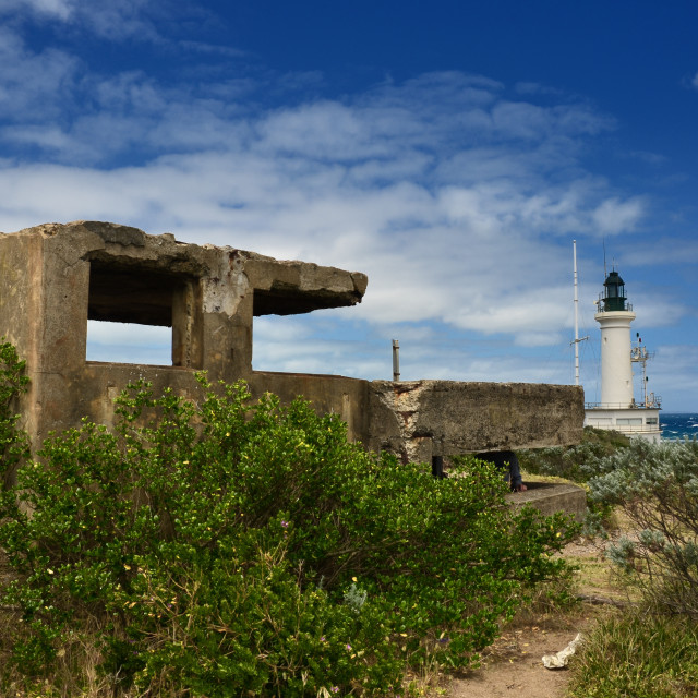 """Remains at the lighthouse"" stock image"