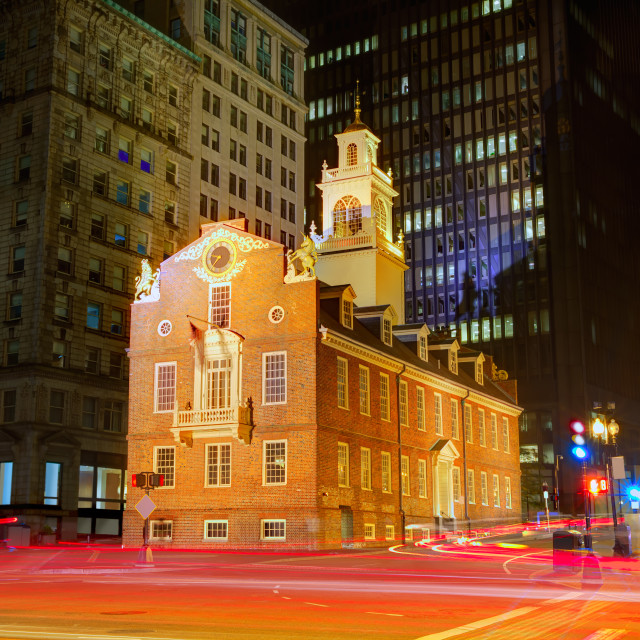 """Boston Old State House in Massachusetts"" stock image"
