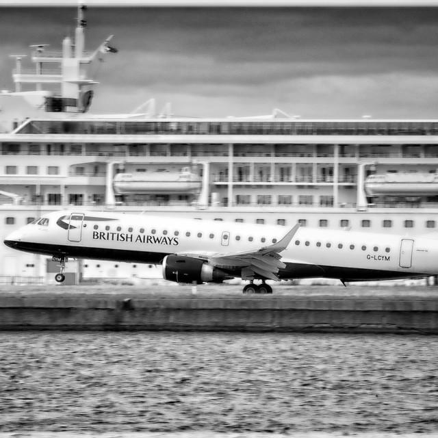"""Plane & Boat"" stock image"