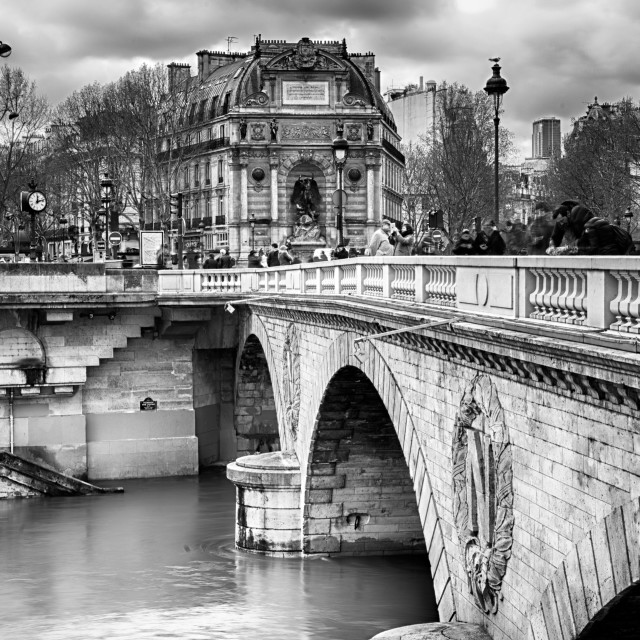 """Bridge Over the River Seine, Paris"" stock image"