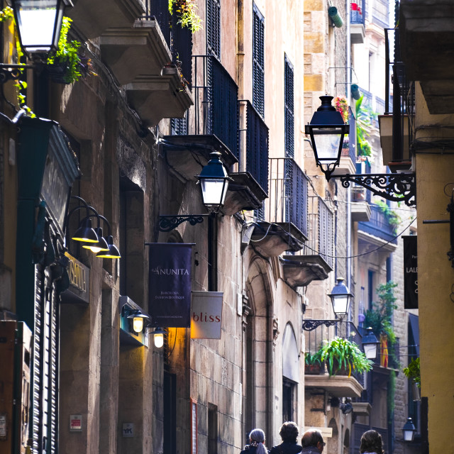 """Gothic quarter, Barcelona"" stock image"