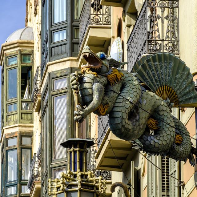 """""""Las Ramblas, Barcelona"""" stock image"""