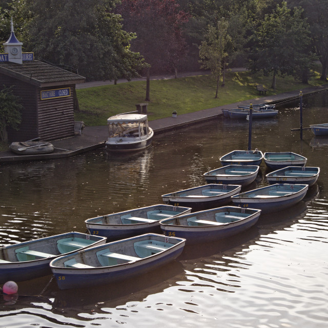 """Rowing boats"" stock image"