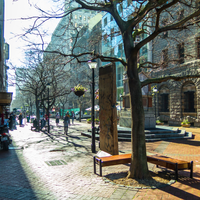 """Pedestrian mall in Cape Town, South Africa"" stock image"