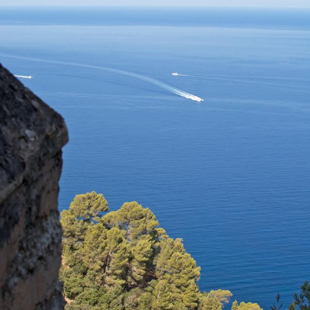 """Majorca coast horizon view"" stock image"